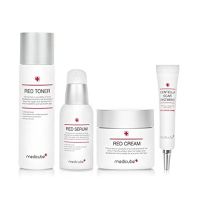 [Medicube] Medicube レッド ライン ベーシック セット トラブル & カーミング Red Line Basic 4 SET, Trouble and Calming Line ,...