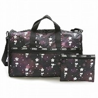 LeSportsac レスポートサック ボストンバッグ 7185 LARGE WEEKENDER G083 SNOOPY IN THE STARS [並行輸入商品]