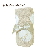 BAREFOOT DREAMS【ベアフットドリームス】 dreaming receiving blanket style531(並行輸入品) (Stone×White)