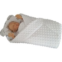 BlueberryShop MINKY with Pillow Very WARM and Cute Swaddle Wrap Blanket Sleeping Bag baby shower...