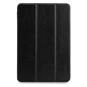TUNEWEAR LeatherLook SHELL with Front cover for iPad mini (3/2/第1世代) (ジェットブラック ) TUN-PD-100053