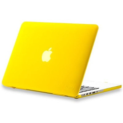 "Kuzy - Retina 13-Inch YELLOW ゴム引きハードケース for MacBook Pro 13.3"" with Retina Display A1502 / A1425 ..."