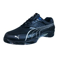 Puma Harpia Mens Leather Spiked Golf Shoes-Black-27