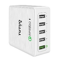 Quick Charge 3.0対応 AVIDET 40W 5ポート USB充電器 Android One S3 / Android One X3 / Android One X2 /...