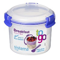 Sistema Klip It Collection Breakfast Bowl To Go Food Storage Container, 17.9-Ounce/ 2.2 Cup by...