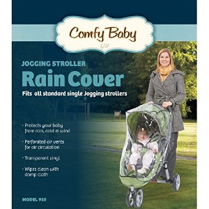 Comfy Baby! Universal Single Jogging Stroller Waterproof Rain Cover/Wind Shield by Comfy Baby