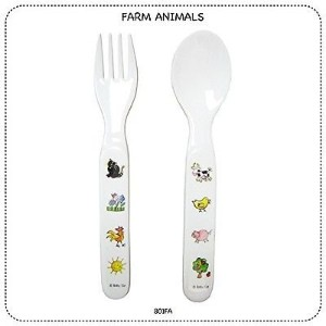 Baby Cie Fork & Spoon - Farm - 2 ct by Baby Cie