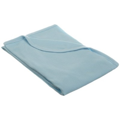 """American Baby Company Full Size 30"""" X 40"""" - 100% Cotton Thermal Blanket, Blue by American Baby..."""