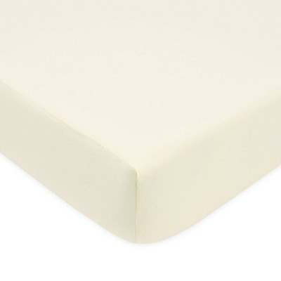 American Baby Company 100% Cotton Percale Fitted Crib Sheet, Ecru by American Baby Company