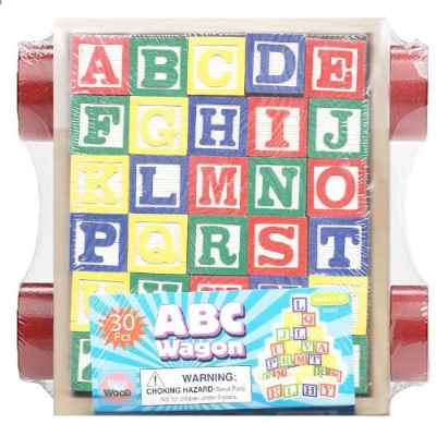 30 Piece ABC Stack N' Build Wagon Blocks with Learning Pictures Kids Toy [並行輸入品]