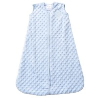 HALO SleepSack Plush Dot Velboa Wearable Blanket, Blue, Small by Halo