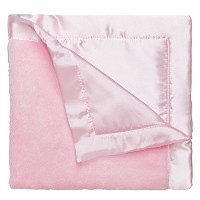 Elegant Baby Ultra Plush Blankie, Satin Border and Back Blankie 20 x 20 Inch in Pastel Pink by...