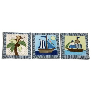 NoJo Ahoy Mate 3 Piece Wall Hanging Set by NoJo
