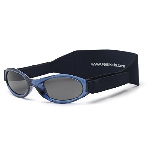 Real Kids Shades 024NAVY My First Shades Navy Shades wiith Adjustable Bands 0-24 Months