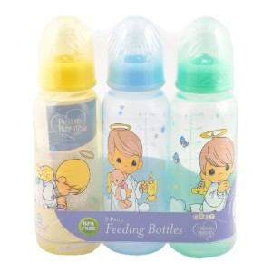 Precious Moments Angel Boys 8 Ounce Bottles, - Colors May Vary by Luv N' Care