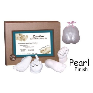 Luna Bean Deluxe 3D Prints Baby Casting Kit (Pearl) - Creates 7 Keepsakes by Casting Keepsakes