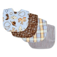 Trend Lab Bib Set, Cowboy Baby by Trend Lab
