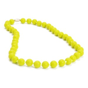 Chewbeads Jane Teething Necklace, 100% Safe Silicone - Chartreuse by Chewbeads