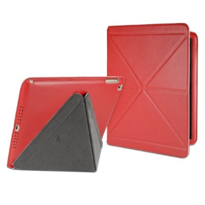 Cygnett タブレットケース Paradox Lux Origami-inspired folio case iPad Air用 レッド/ホワイト CY1328CIPLU