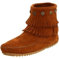692 MINNETONKA BROWN BOOTY FRINGE 38 Brown
