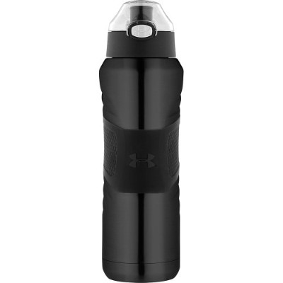 Under Armour Dominate 24 Ounce Vacuum Insulated Stainless Steel Bottle with Flip Top Lid ブラック