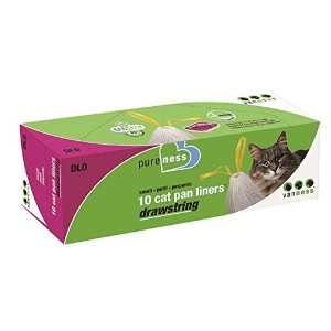 Pureness Small Drawstring Cat Pan Liners, 10 Count by Pureness