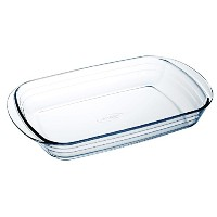 Arcuisine Glass Rectangular 13.75 x 8.65 Inch Roaster Pan by International Cookware