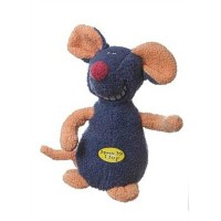 Multipet Deedle Dude 8-Inch Singing Mouse Plush Dog Toy, Blue by Multi Pet