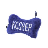 Copa Judaica Chewish Treat 5.5 by 3-Inch Kosher Bone Plush Dog Toy with Squeaker, Medium, Blue by...