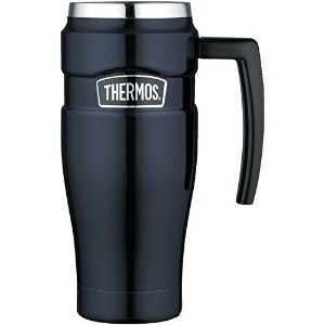 Thermos Stainless King Travel Mug, 16-Ounce 取っ手付き マグ 450ml ブルー