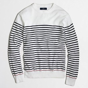 J.CREW(ジェイクルー) SAILOR-STRIPED COTTON CREWNECK SWEATER Lサイズ [並行輸入品]