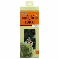 Petmate Softbite Cat Toy, 24-Pack, Fur Mice by Petmate