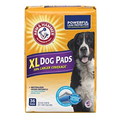 Arm & Hammer Extra Large Pet Training and Puppy Pads 22.5-inch by 30-inch, 36-Count by Arm & Hammer