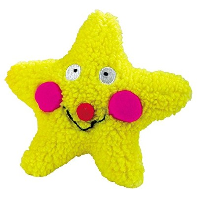 Petedge ZW380 12 Zanies Smiling Toy Yellow Star 7.5 In