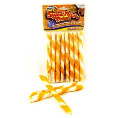 Petrapport Beefeaters Rawhide Real Sweet Potato Wrapped Rawhide Twists 5in 8pk