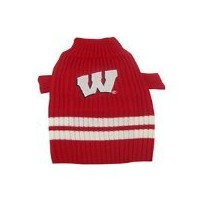 DoggieNation 014269032979 Large Wisconsin Badgers Dog Sweater