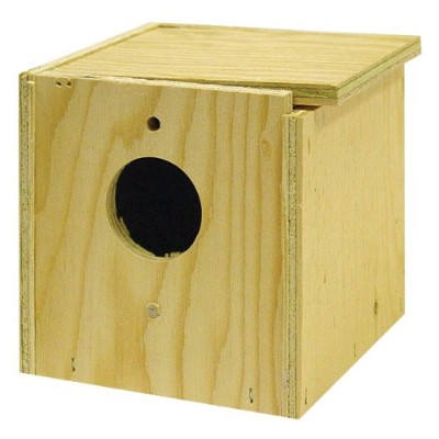 North American Pet Bird Brainers Finch Nesting Box Inside Out Mounting Rustic