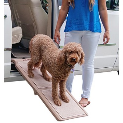Pet Gear Indoor Bi-Fold Half Ramp for Cats and Dogs - Tan by Pet Gear