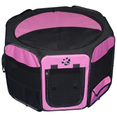 Pet Gear Travel Lite Octagon Pet Pen with Removable Top for Cat and Dog up to 60-Pound, 36-Inch,...