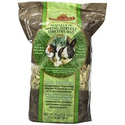 Sun Seed Company SSS88042 Sunnatural Select Spring Harvest Small Animal Timothy Hay, 28-Ounce by...