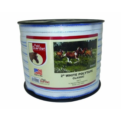 Field Guardian 2 White Polytape Classic for electric fence by Field Guardian