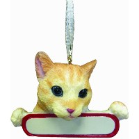 Tabby Cat Ornament Orange Santa's Pals With Personalized Name Plate A Great Gift For Tabby Cat...
