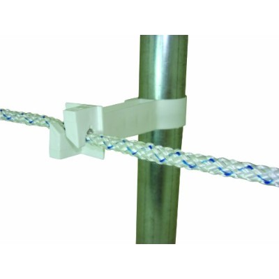 Field Guardian Pipe Clamp Insulator, White by Field Guardian