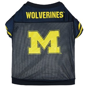 Sporty K9 Collegiate Michigan Wolverines Football Dog Jersey, XX-Small - New Design by Sporty K9