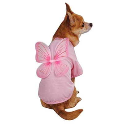 East Side Collection Polyester/Cotton Fairy Dust Dog Tee, Medium, Pink by East Side Collection