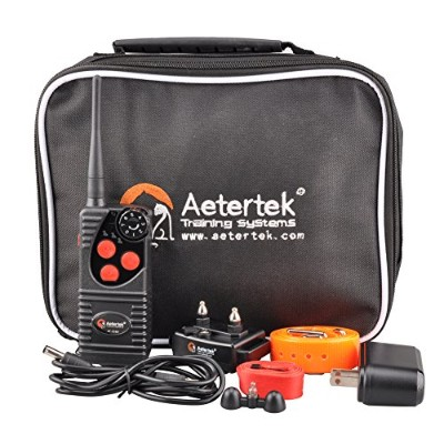 600 YARD REMOTE DOG TRAINER WITH WATERPROOF RECHARGEABLE DOG TRAINING SHOCK COLLAR: 7 ADUSTABLE...