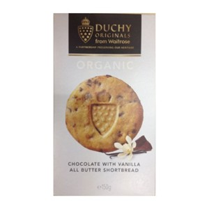 Duchy Originals Organic Highland Chocolate & Vanilla All Butter Shortbread Biscuits (ダッチーオリジナルス...