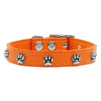 Mirage Pet Products 83-18 18OR Paw Leather Orange 18