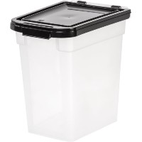 IRIS Airtight Pet Food Container, 10-Pound, Clear/Black [並行輸入品]