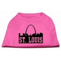 Mirage Pet Products 51-74 MDBPK St Louis Skyline Screen Print Shirt Bright Pink Med - 12